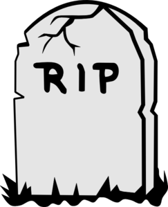 Tombstone clip art at. Rip clipart