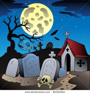 A skull in . Graveyard clipart