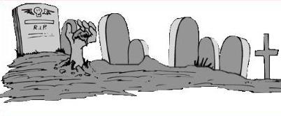 Graveyard clipart. Free halloween