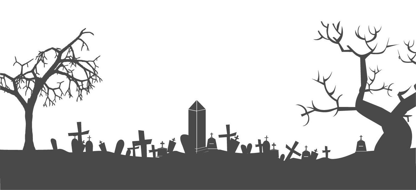 Best halloween graveyard clip. Cemetery clipart vector