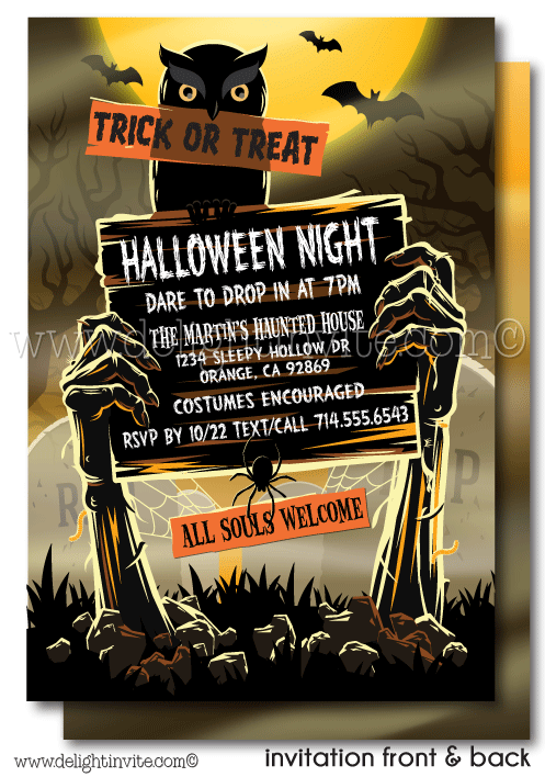 Adult halloween party invitations. Zombie clipart zombie graveyard