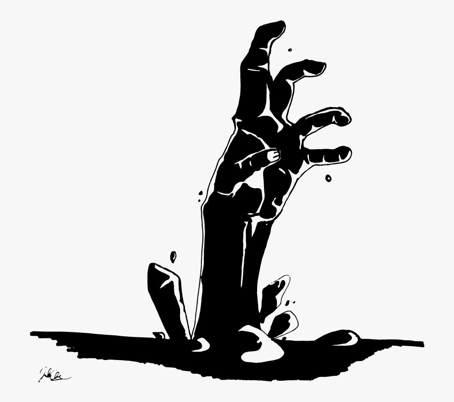 Hand black . Zombie clipart zombie graveyard