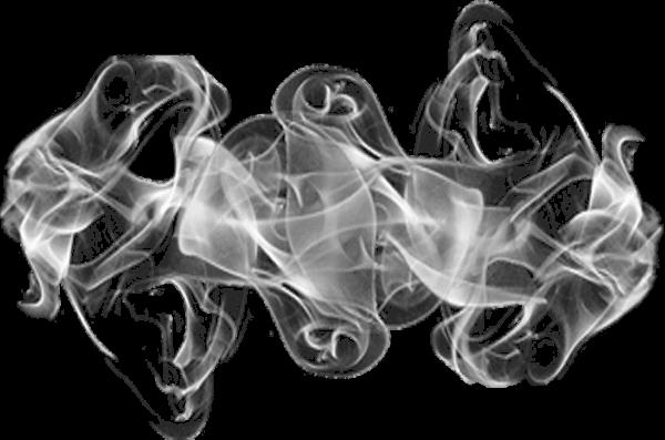 Dense transparent stickpng. Gray smoke png