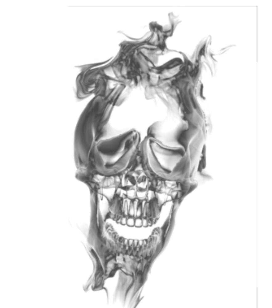 Gray smoke png. Skull transparant by cakkocem