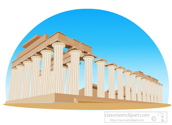 Ancient greek temple of. Greece clipart