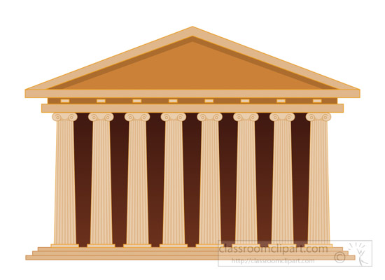 Greece clipart. Ancient acropolis in athens