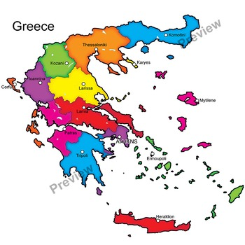 Maps of by the. Greece clipart