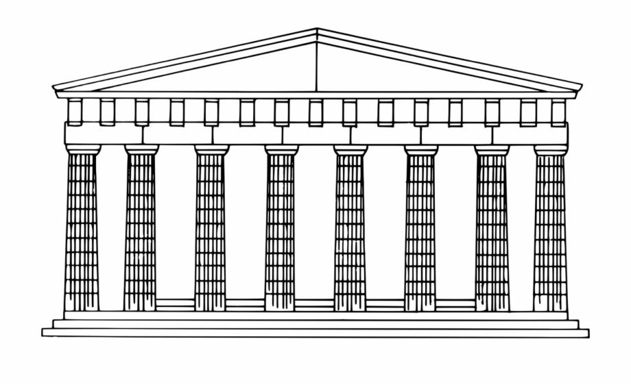 Greece clipart ancient greek architecture. Pillar transparent doric