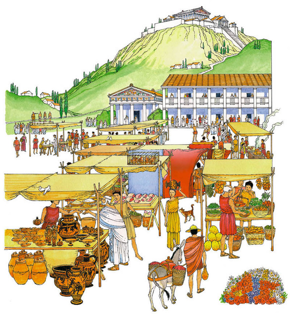 Greece clipart ancient town. Greek life simplebooklet com