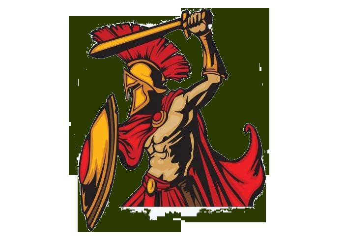 Spartan clipart spartan soldier. Army ancient greece clip