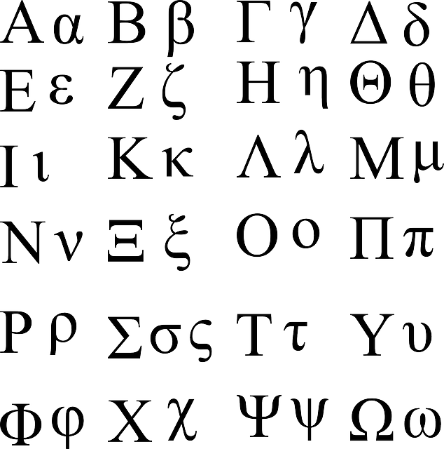 Greece clipart ancient writing. Greek alphabet facts for