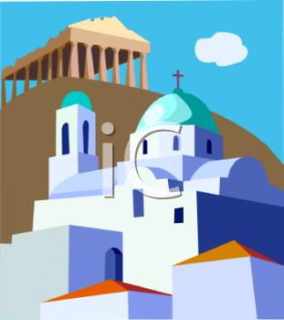 Greece clipart city greek.  clipartlook