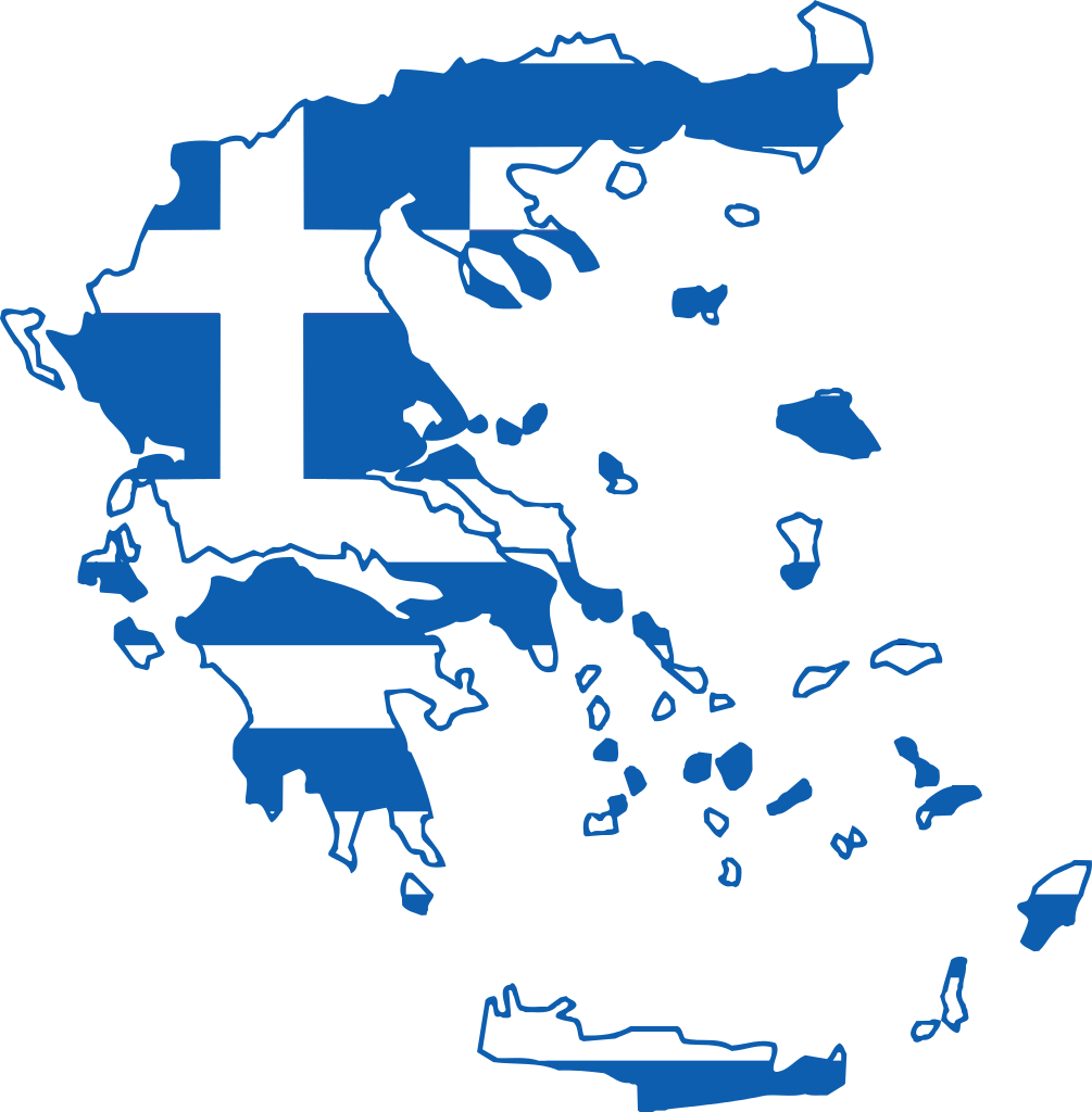 Greek clipart simple building. Map of greece in