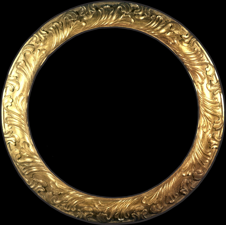 Gold circle no mat. Mirror clipart large