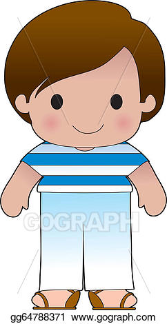 Vector stock greek boy. Poppy clipart kid