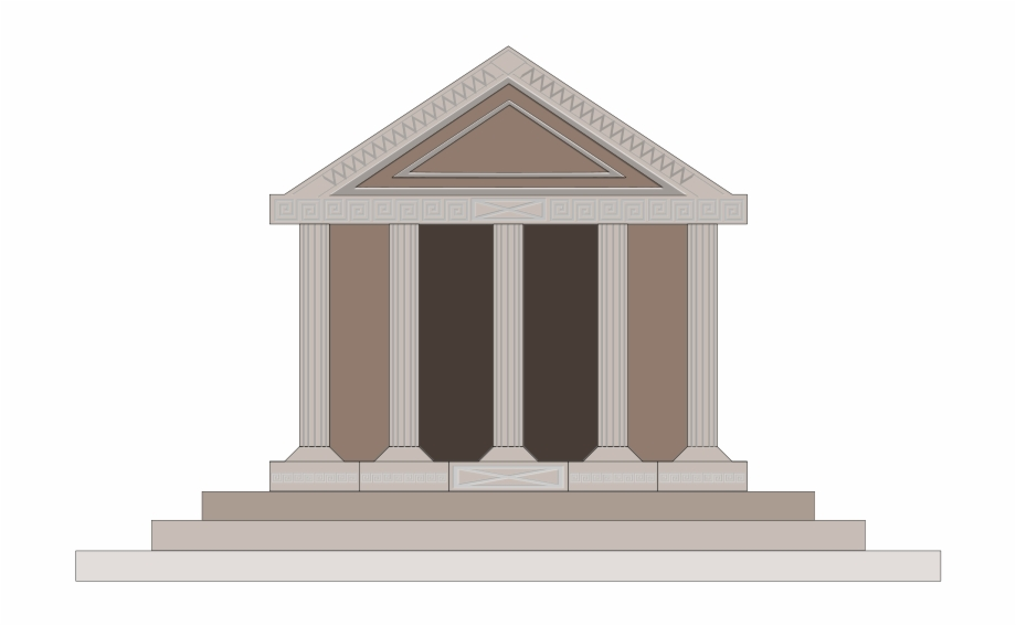 Ancient school . Greece clipart greek building