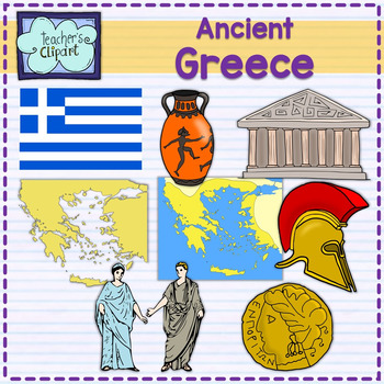 Greek clipart ancient world. Greece map and art