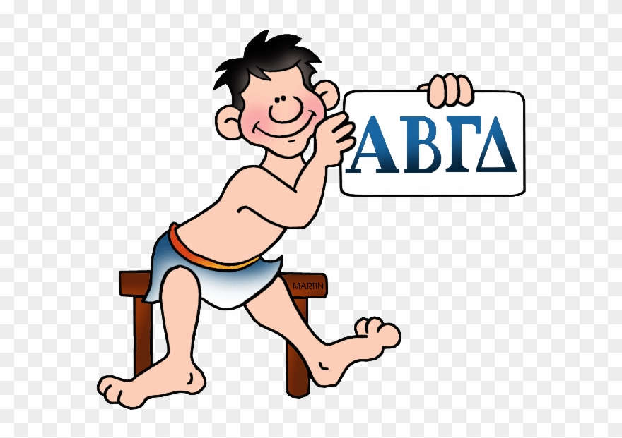 Alphabet ancient for kids. Greece clipart greek letter