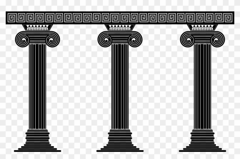 Greece clipart greek pillar. Pillars clip art hd