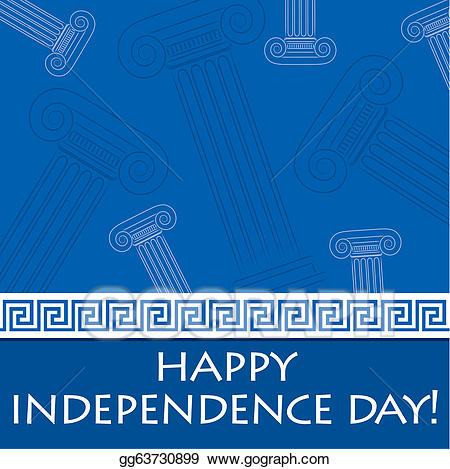 Vector happy . Greek clipart independence day greek