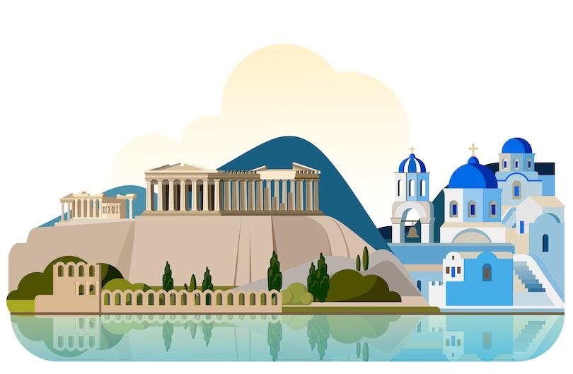 Greece clipart landscape greek.  best places to