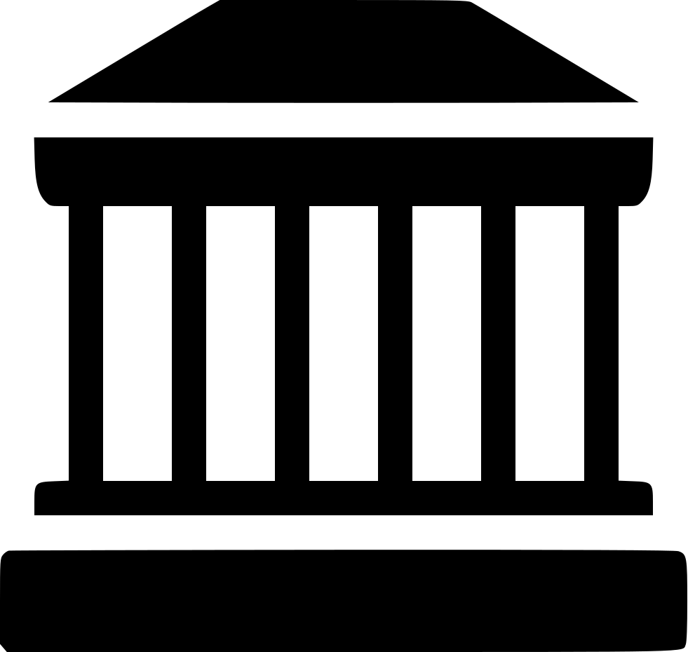 Building svg png icon. Greek clipart law roman