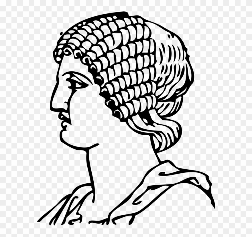 Black and white ancient. Greece clipart line