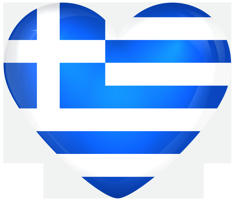 Greek clipart transparent. Greece large heart flag