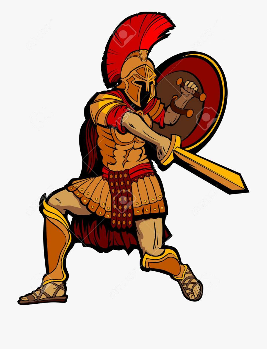 Warrior clipart greece ancient. Roman army greek