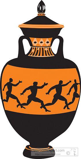 Greek clipart pottery greek. Vases classroom decor ancient