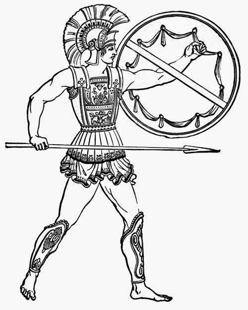 Greeks clip art vector. Warrior clipart greece ancient