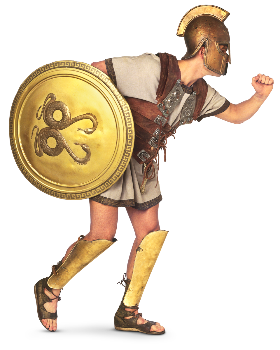 Warrior clipart soldier athenian. Trojan war facts for