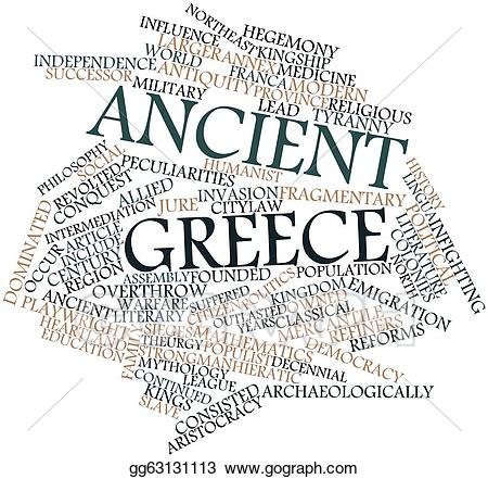 Greece clipart word. Stock illustration ancient illustrations