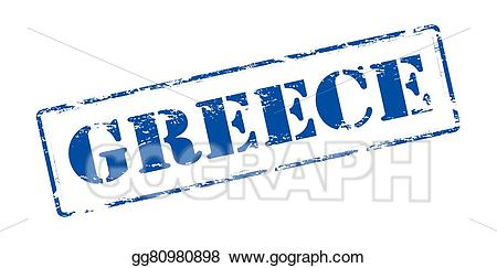Greece clipart word. Vector art drawing gg