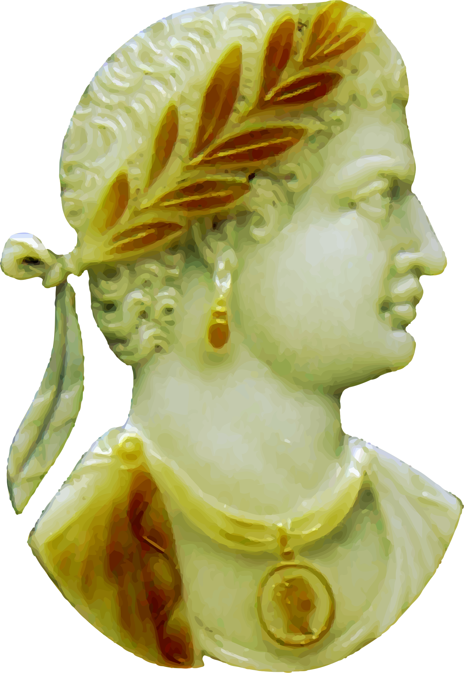 Greek clipart bust roman. Looking up days a