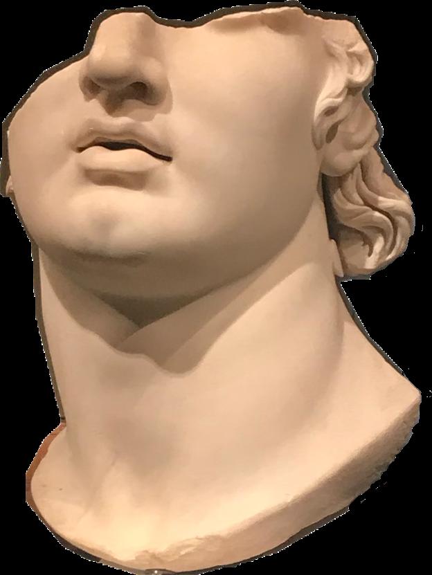 Vaporwave sculpture freetoedit report. Greek clipart bust roman