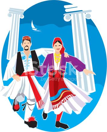 Dancers stock vector freeimages. Greek clipart dancer greek