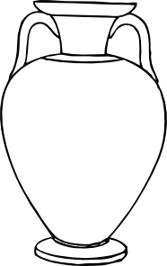Greek clipart jar. Outline amphora clip art