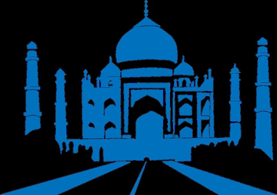 Taj mahal building shadow. Greek clipart landmark