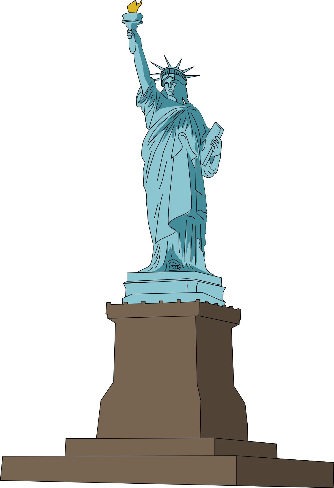 Free statue cliparts download. Greek clipart landmark