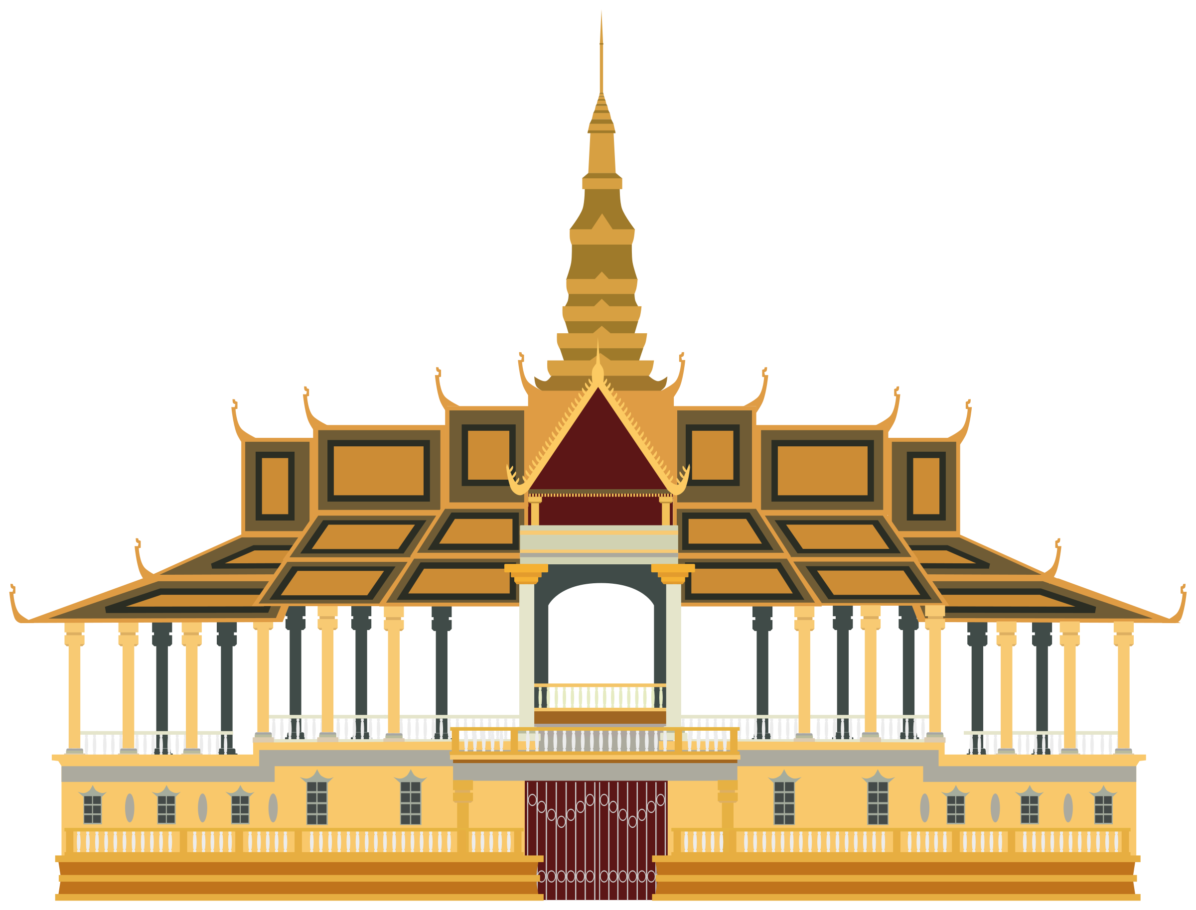 collection of royal. Palace clipart phnom penh png