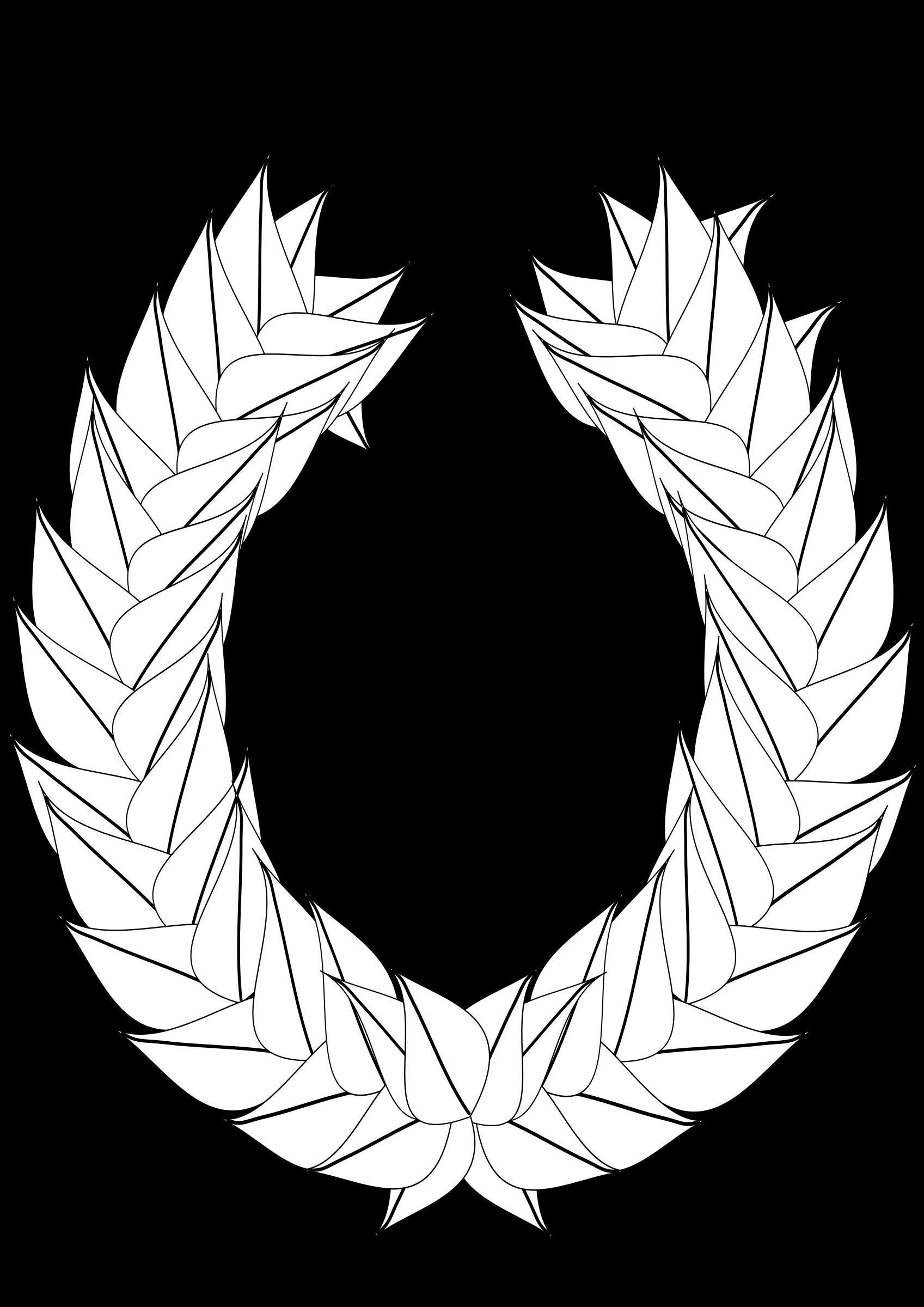 Greek clipart laurel wreath. Blank outline big image