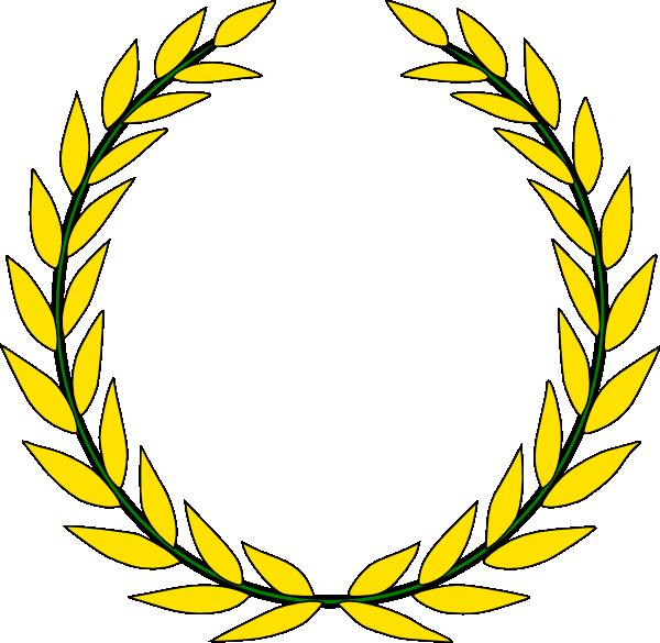 Gold olive clip art. Greek clipart laurel wreath