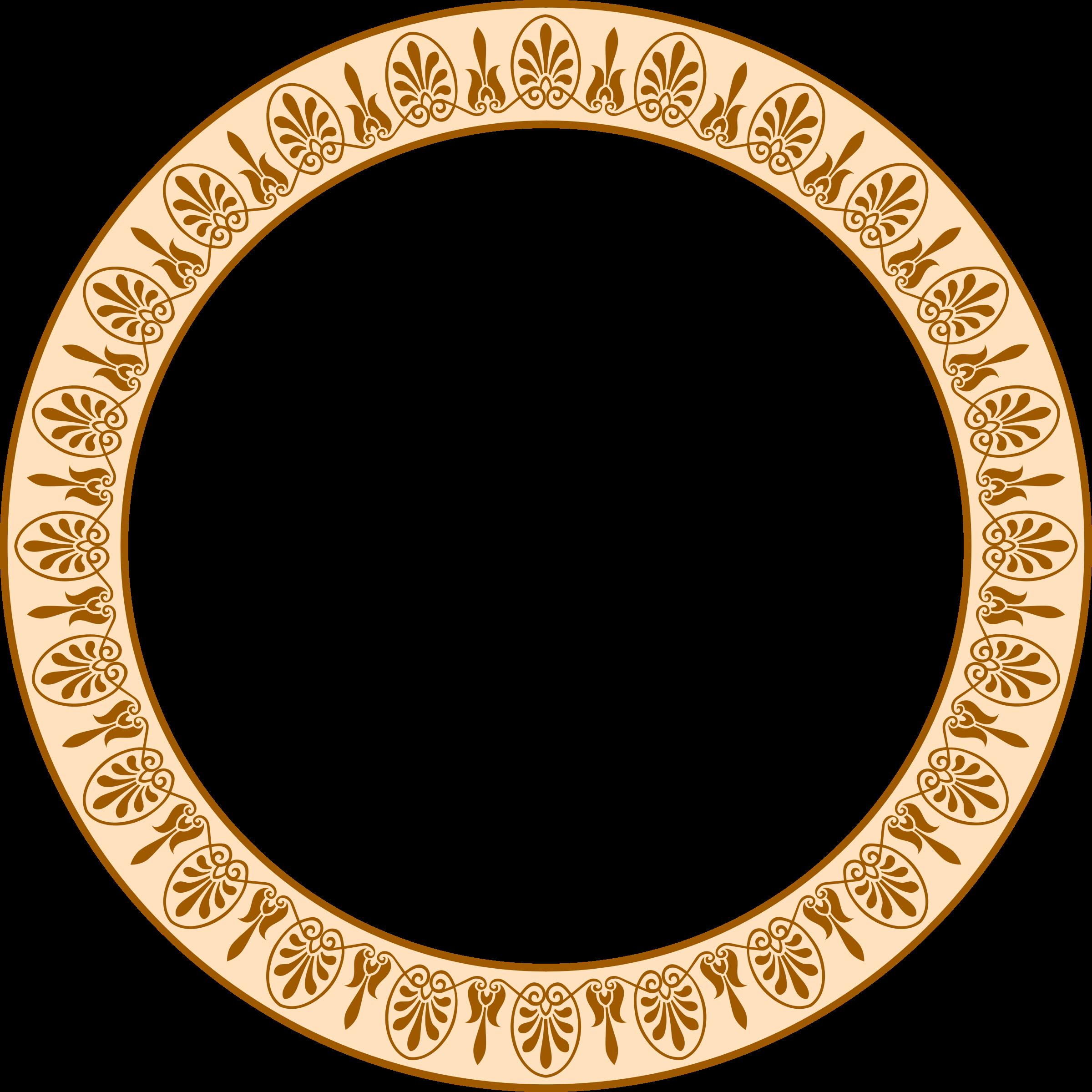 Greek clipart logo. Circular arabesque frame colour