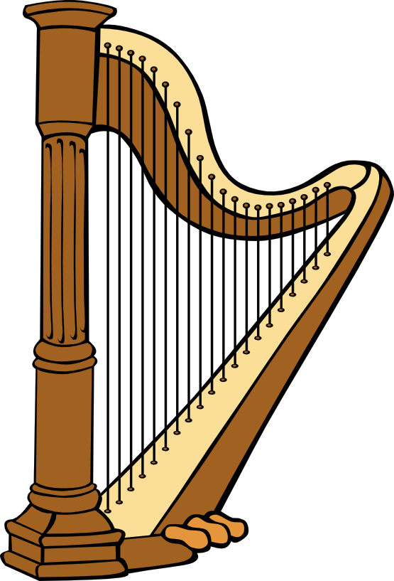 Panda free images harpclipart. Harp clipart lyre