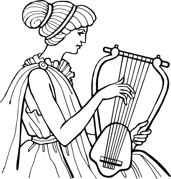 Greek clipart lyre. Musical instrument clip art