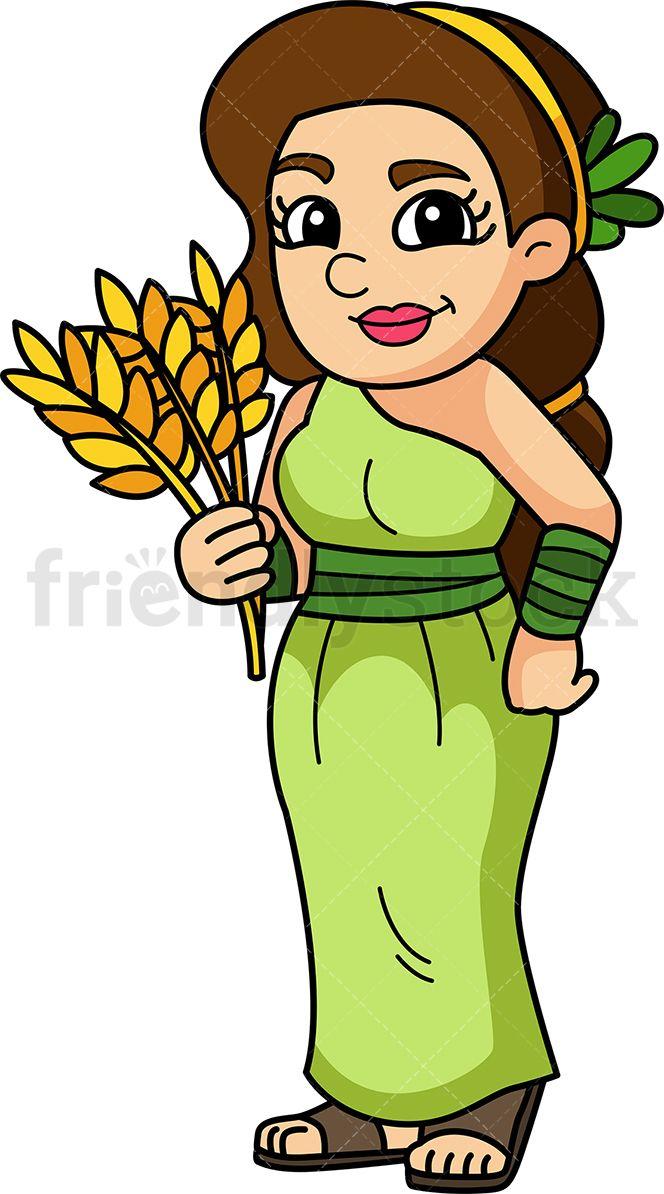 Greek clipart olympians. Demeter goddess printable clip