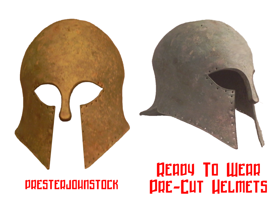 Pre cut ancient helmets. Greek helmet png