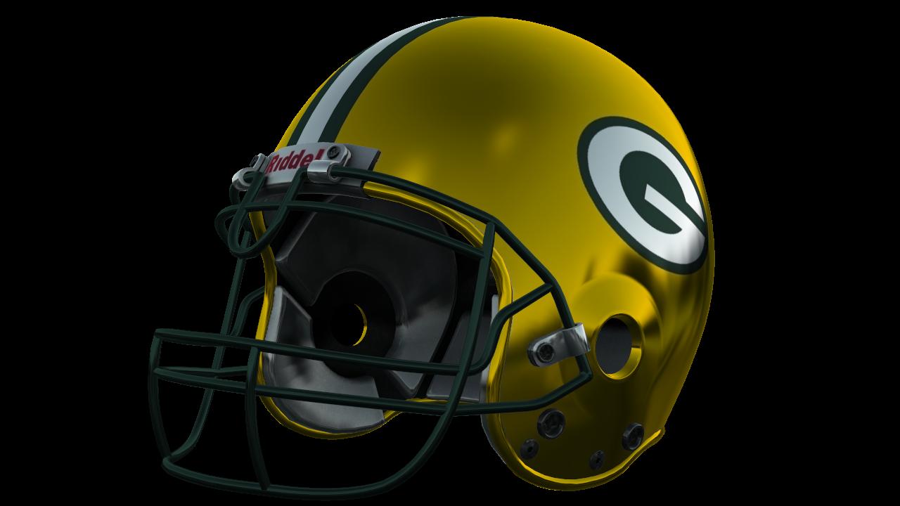 Halfmoon s nfl helmets. Green bay packers helmet png