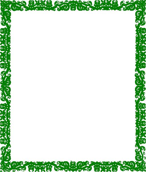 Design clip art at. Green border png